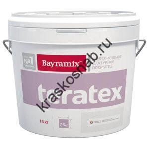 Bayramix Teratex моделируемое текстурное покрытие для фасадных и интерьерных работ с эффектом «крупная шуба»