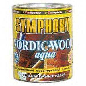 SYMPHONY NORDIC WOOD AQUA водоразбавляемый лессирующий антисептик с добавлением льняного масла