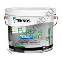 TEKNOS FUTURA AQUA 40 водоразбавляемая полуглянцевая универсальная краска