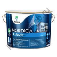 TEKNOS NORDICA CLASSIC водоразбавляемая полуматовая краска для домов