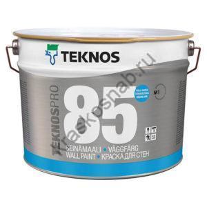 TEKNOS TEKNOSPRO 85 водоразбавляемая высокоглянцевая краска для стен и потолка