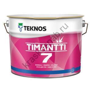 TEKNOS TIMANTTI 7 водоразбавляемая акрилатная краска для стен и потолков